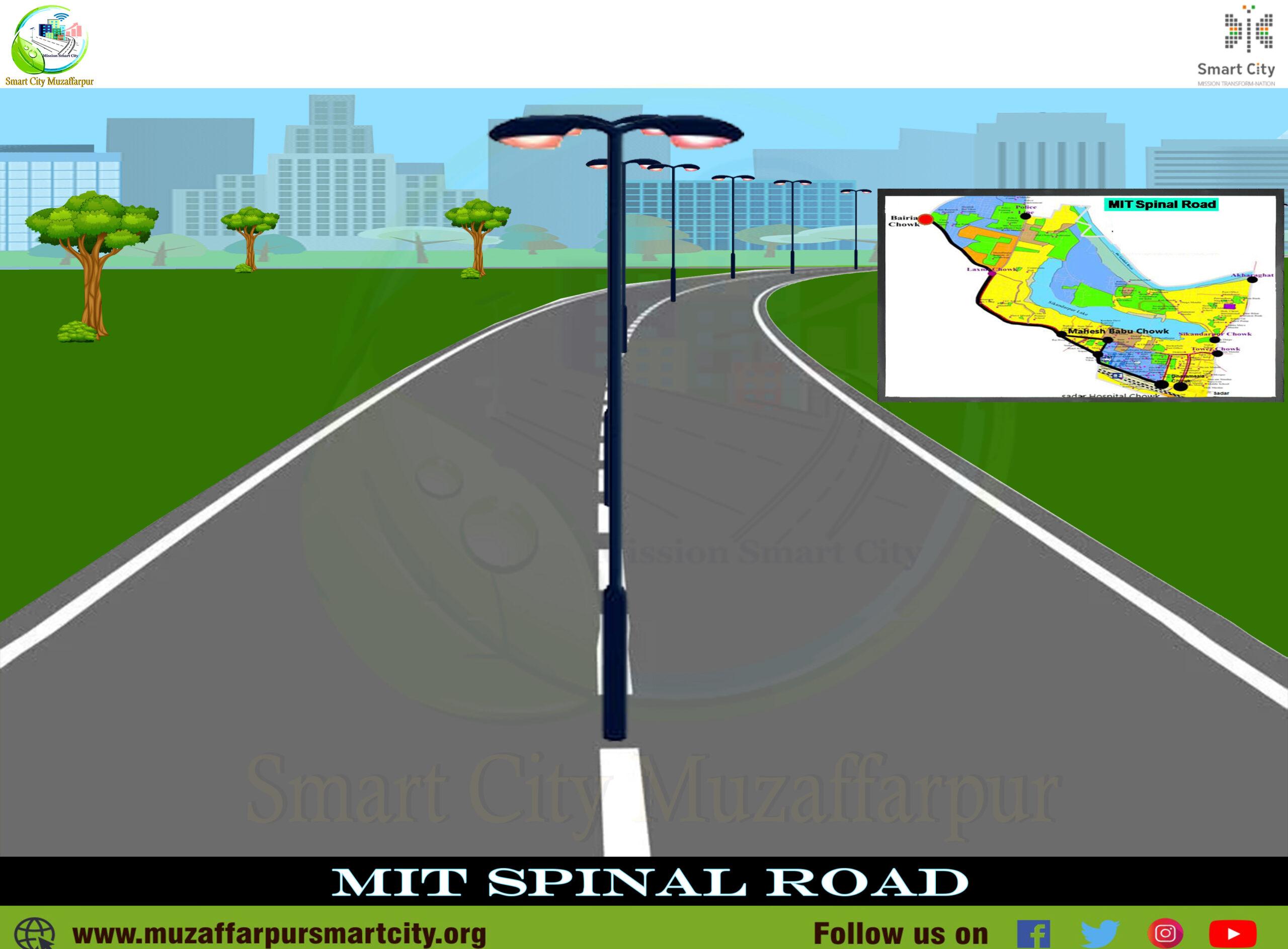 Muzafarpur Smart City Spinal Road of Muzaffarpur