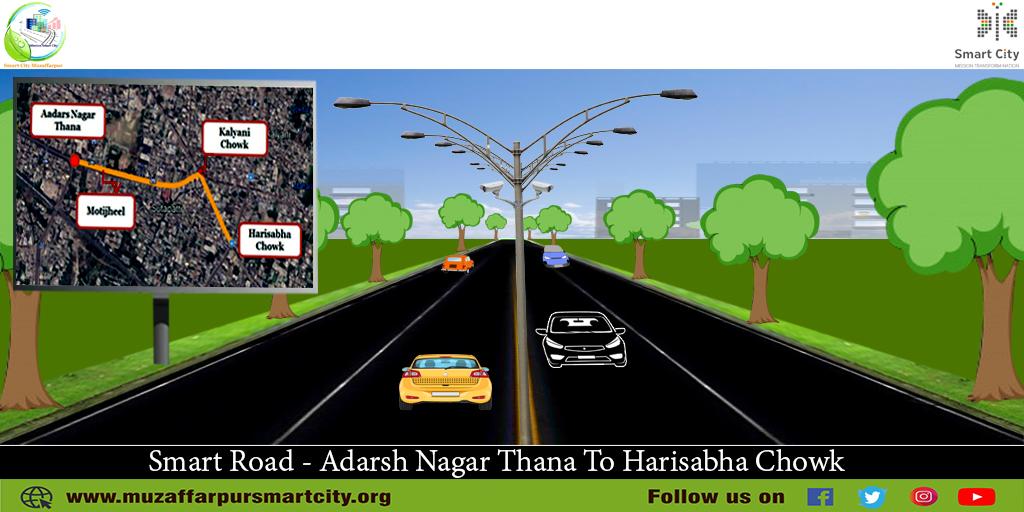 Muzaffarpur Smart City Road from Adarsh nagar thana to hari sabha Chowk